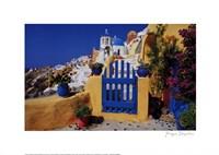 Village with Blue Gate Fine-Art Print
