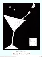 Black and White Martini I Fine-Art Print
