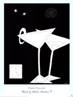 Black and White Martini II Fine-Art Print