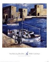Tres Barcas y Bicicleta Fine-Art Print