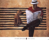 El Hombre del Periodico Fine-Art Print