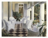 White Summer Terrace Fine-Art Print