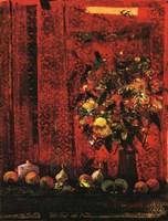 Mesa Con Mantel Rojo Fine-Art Print