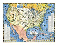Outdoor Life Sportsmen's Fish Map Fine-Art Print
