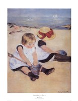 Children Playing On The Beach Fine-Art Print
