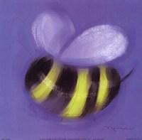 Bee On Blue Fine-Art Print