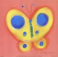 Butterfly On Pink Fine-Art Print