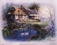 Coutnry Cottages - bridge Fine-Art Print