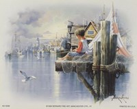 Fishing Docks - seagull Fine-Art Print