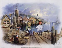 Fishing Docks Fine-Art Print