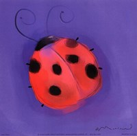 Ladybug On Blue Fine-Art Print
