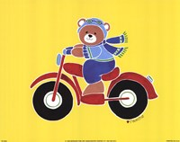 Bear on Motorcycle Fine-Art Print