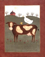 Cow with Duck Fine-Art Print