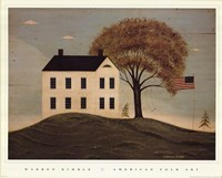House with Flag Fine-Art Print