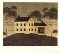 House with Quilt Fine-Art Print