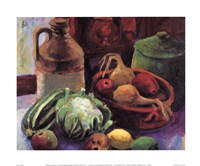 Vegetables and Stone Crocks Fine-Art Print