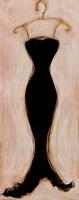 Black Evening Gown Framed Print