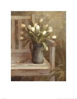 Tulip Bouquet on Bench Fine-Art Print