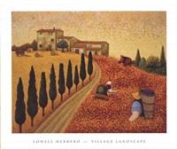 Village Landscape Fine-Art Print