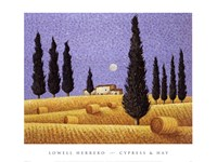 Cypress and Hay Fine-Art Print