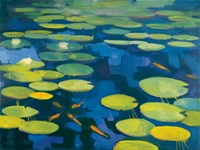 Lily Pond with Koi Fine-Art Print