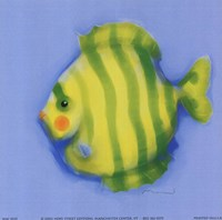 Green Striped Fish Fine-Art Print