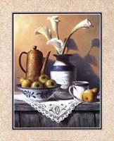 Mason Jar With White Lilies Fine-Art Print
