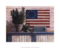 Old Flag With Ivy Fine-Art Print