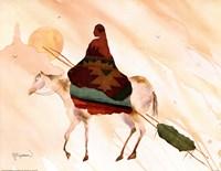 On Horse At Sunset Fine-Art Print