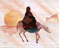 On Horse At Sunrise Fine-Art Print