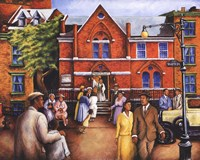 City Church Gathering Fine-Art Print