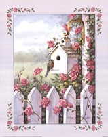 Birdhouse With Roses Fine-Art Print