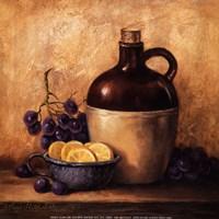 Jug with Grapes and Lemons Fine-Art Print