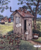 Outhouse - Raccoon Fine-Art Print