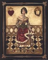Harlequin Queen - Mini Framed Print