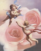 Cherubs' Rose Fine-Art Print