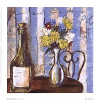 Wine and Flowers I Fine-Art Print