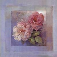 Roses on Blue I Fine-Art Print