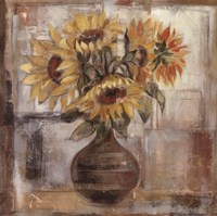 Sunflowers In Bronze Vase Fine-Art Print