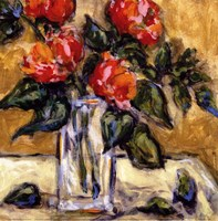 Vase Of Red Peonies Fine-Art Print