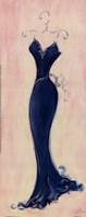 Blue Evening Gown Framed Print