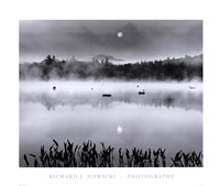Lake Flower Moonset Fine-Art Print