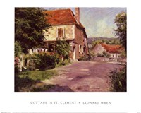 Cottage In St. Clement Fine-Art Print