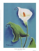 Calla Lily With Blue Fine-Art Print