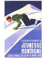 Championnats Jeunesse Et Montagne Fine-Art Print