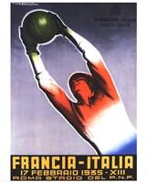 Francia Italia Foot Ball 1935 Fine-Art Print