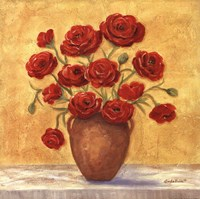 Red Ranunculus In French Vase Fine-Art Print