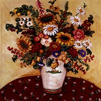 Rooster Vase Floral Fine-Art Print