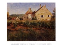Vineyard Cottages In Jully Fine-Art Print