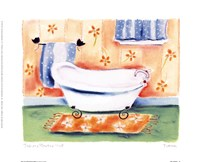 Tub On Flowered Mat Fine-Art Print